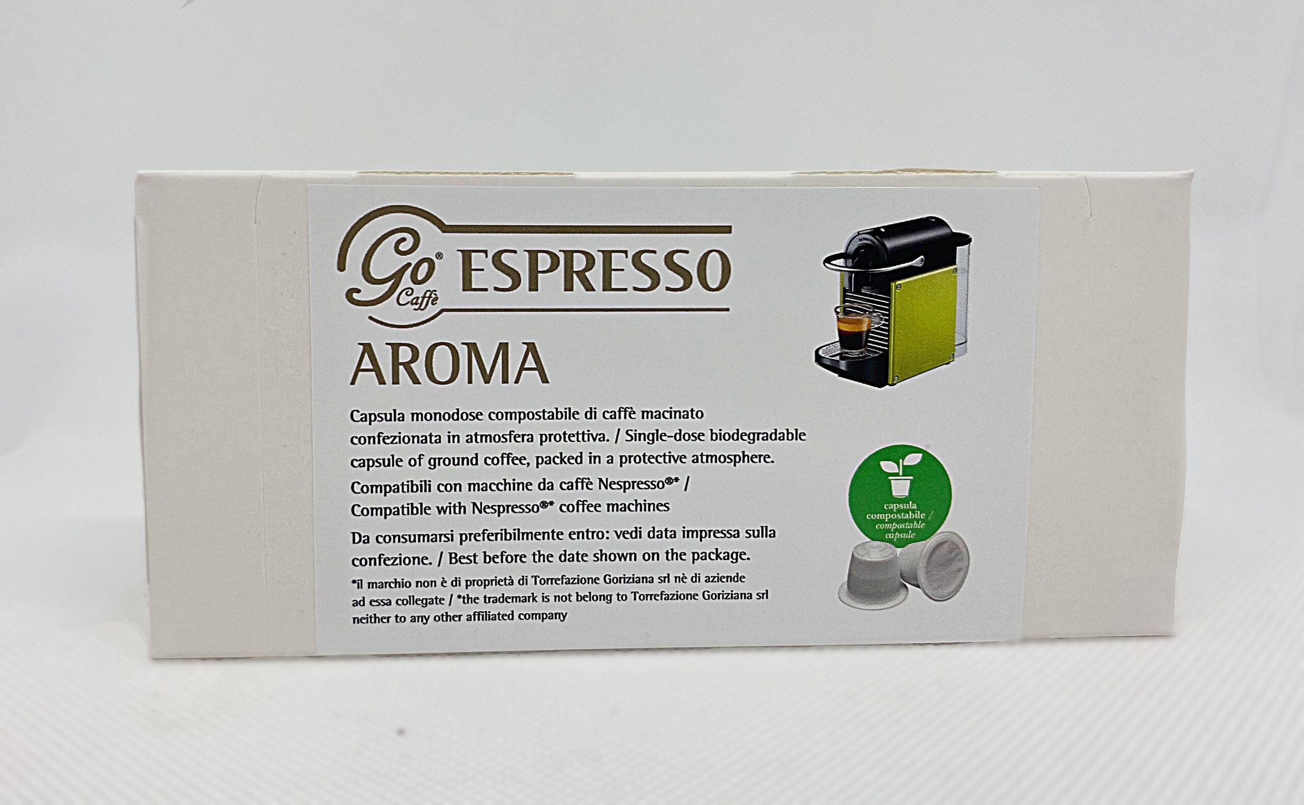 10 CAPSULE GO ESPRESSO AROMA – CAPSULE COMPATIBILI NESPRESSO COMPOSTABILI